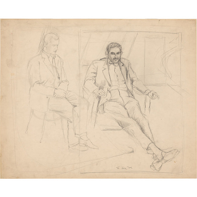 Harold Rosenberg and Willem de Kooning