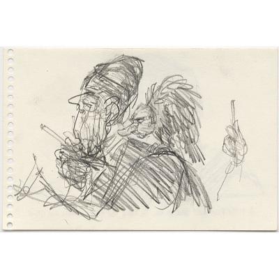 Nixon as vulture on Reagan's shoulder