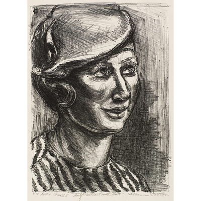 Self-Portrait with Hat