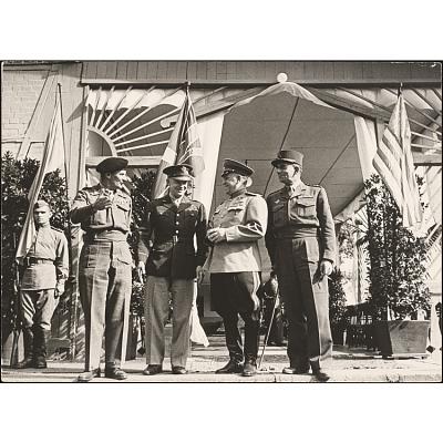 Dwight Eisenhower, Bernard Montgomery, Georgi Zhukov, and Jean de Lattre de Tassigny