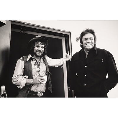 Johnny Cash and Waylon Jennings