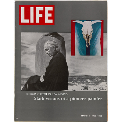 Georgia O'Keeffe in LIFE Magazine, March 1, 1968