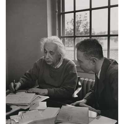 J. Robert Oppenheimer and Albert Einstein