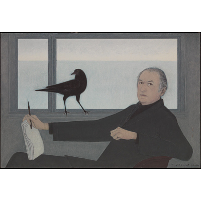 Self-portrait with Crow