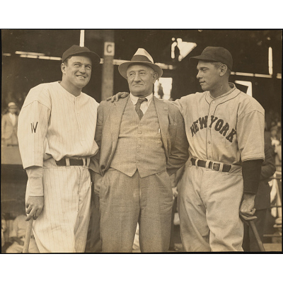 Honus Wagner (with Bill Terry and Joe Cronin)
