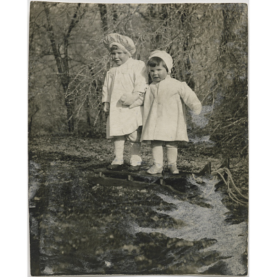Katharine Hepburn (with her brother Tom)