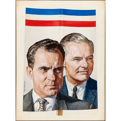 Richard Nixon and Henry Cabot Lodge, Jr.