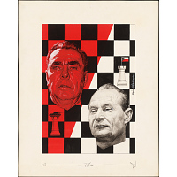 Image of Leonid Brezhnev and Alexander Dubcek