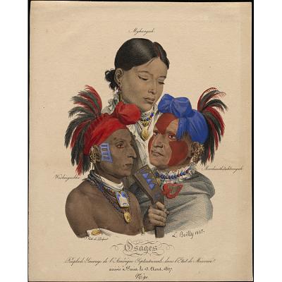 Osage Indians: Mohongo, Washingsabba (or Black Bird), and Big Soldier