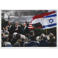 Image of Jimmy Carter (with Anwar Sadat and Menachem Begin)