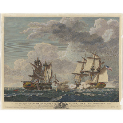 Capture of H. B. M. Frigate Macedonian, Capt. J. S. Carden by the U. S. frigate United States, Stephen Decatur, Eqr., Commander