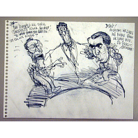 Image of Bush and Dole as Children on Reagan's Lap