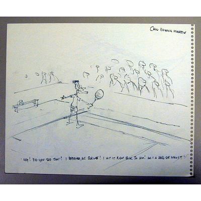 Bush on Tennis Court