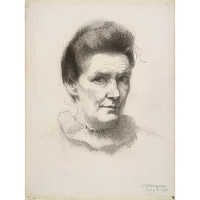 Image of Minerva Chapman Self-Portrait