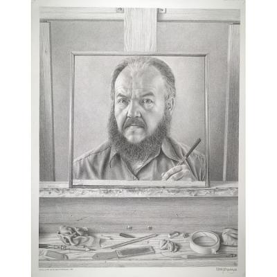 Still Life with Self-Portrait