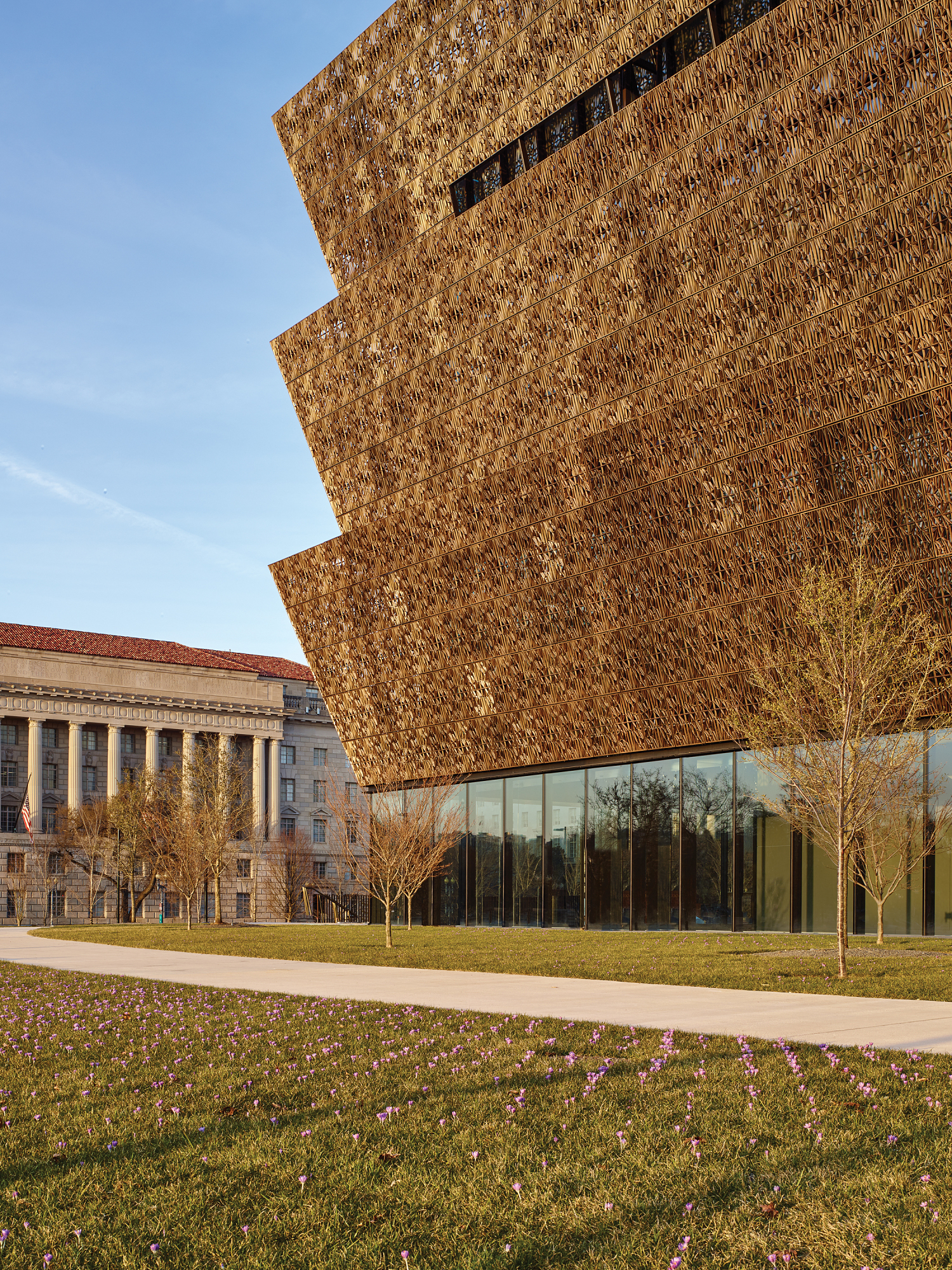 View of National Museum of African American History and Culture