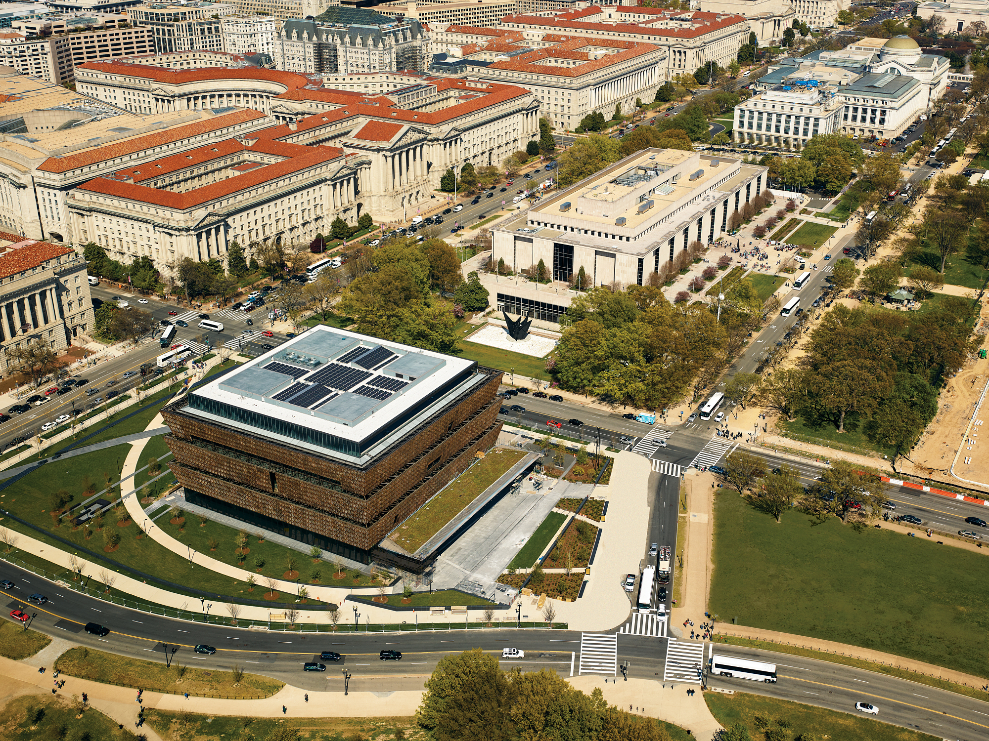 Aerial View of NMAAHC