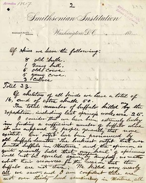 William Temple Hornaday Letter - Dec 21, 1886 - Page 3