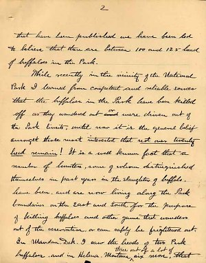William Temple Hornaday Letter - Dec 2, 1887 - Page 2