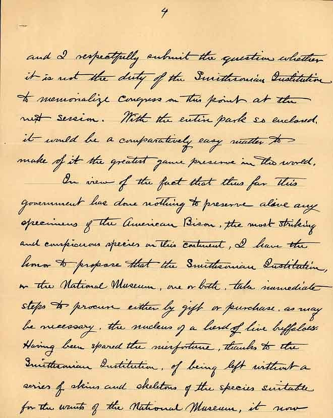 William Temple Hornaday Letter - Dec 2, 1887 - Page 4