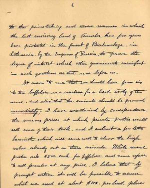 William Temple Hornaday Letter - Dec 2, 1887 - Page 6
