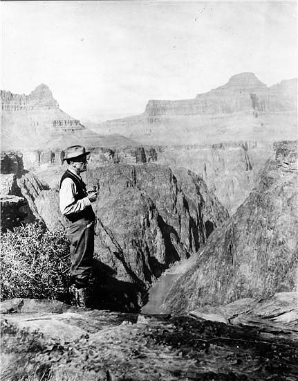 Charles D. Walcott, 4th Secretary of the Smithsonian, Grand Canyon in Arizona, 1915, Smithsonian Institution Archives, Historic Images of the Smithsonian, ID# 83-14116.