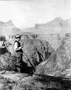 Charles D. Walcott, 4th Secretary of the Smithsonian, Grand Canyon in Arizona, 1915, Smithsonian Institution Archives, Historic Images of the Smithsonian, ID# 83-14116.