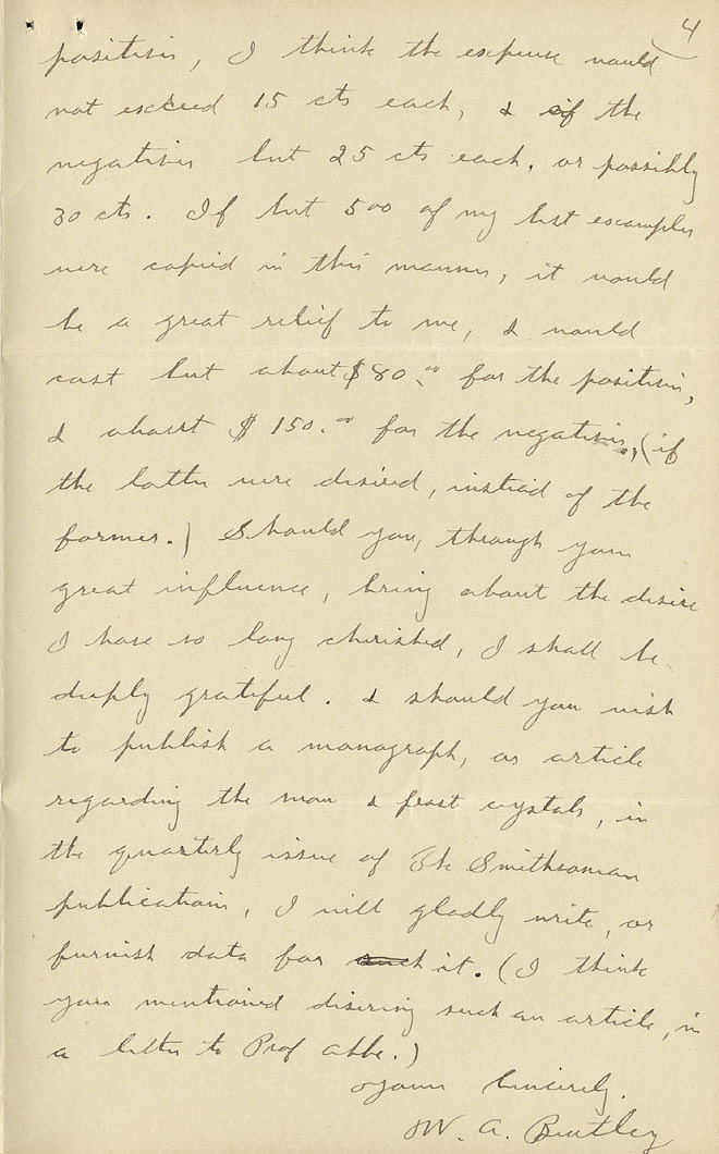 Wilson A. Bentley Letter - Dec 15, 1904 - Page 4