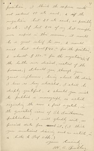 Wilson A. Bentley Letter - Dec 15, 1904 - Page 4