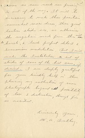 Wilson A. Bentley Letter - Dec 26, 1904 - Page 2