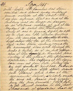 Mary Henry Diary, Fire - Jan 1865 - Page 2
