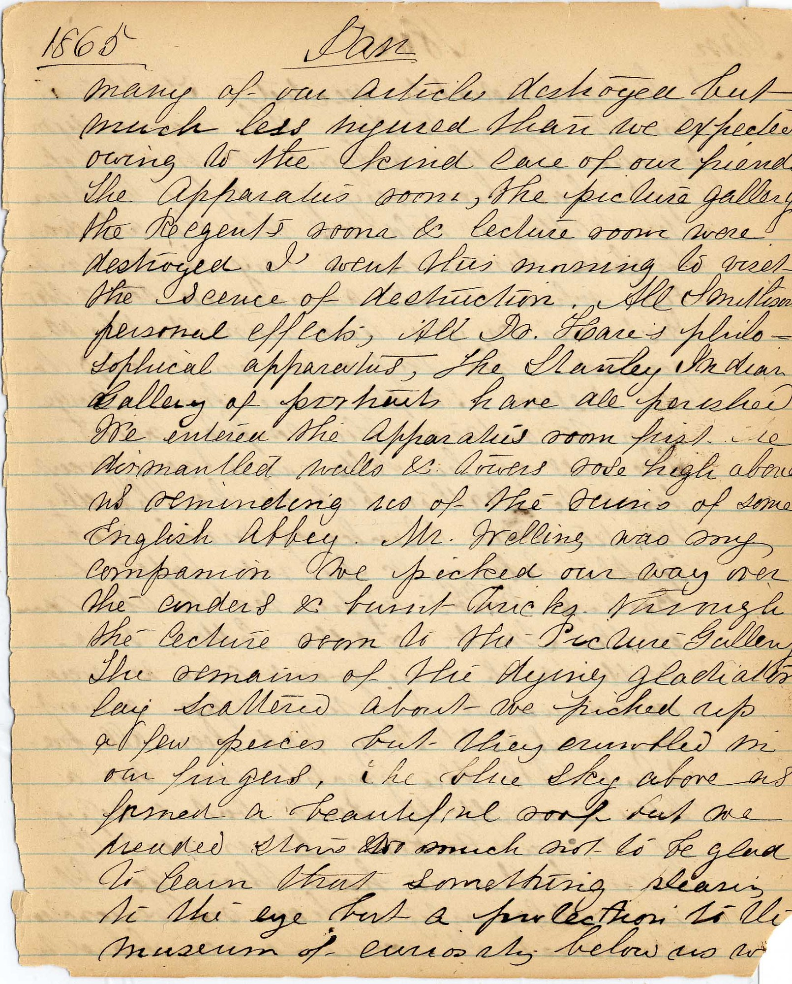 Mary Henry Diary, Fire - Jan 1865 - Page 5