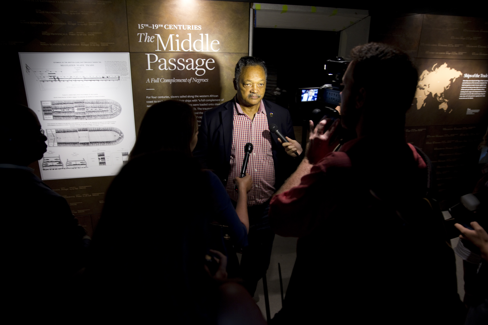 Jesse Jackson Sr. at Press Opening, NMAAHC
