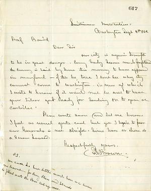 Solomon Brown Letter - Sept 4, 1862