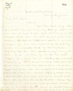 Solomon Brown Letter - Aug 6, 1864 - Page 1