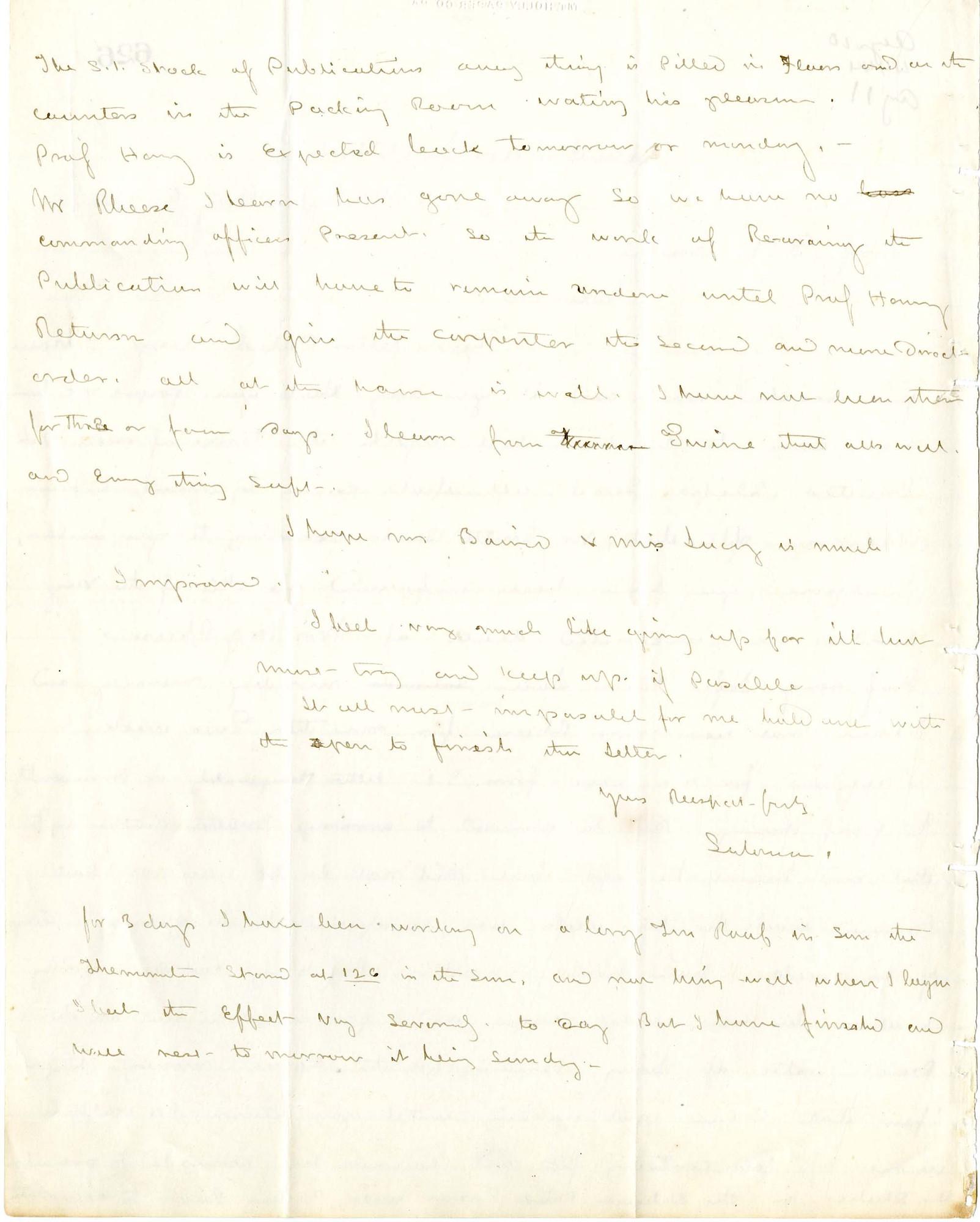 Solomon Brown Letter - Aug 6, 1864 - Page 2