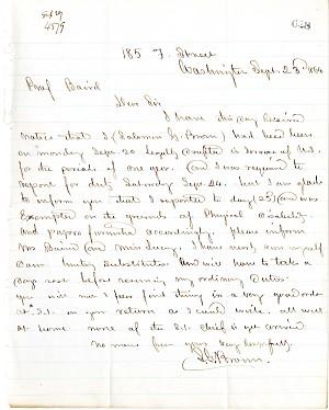 Solomon Brown Letter - Sept 23, 1864