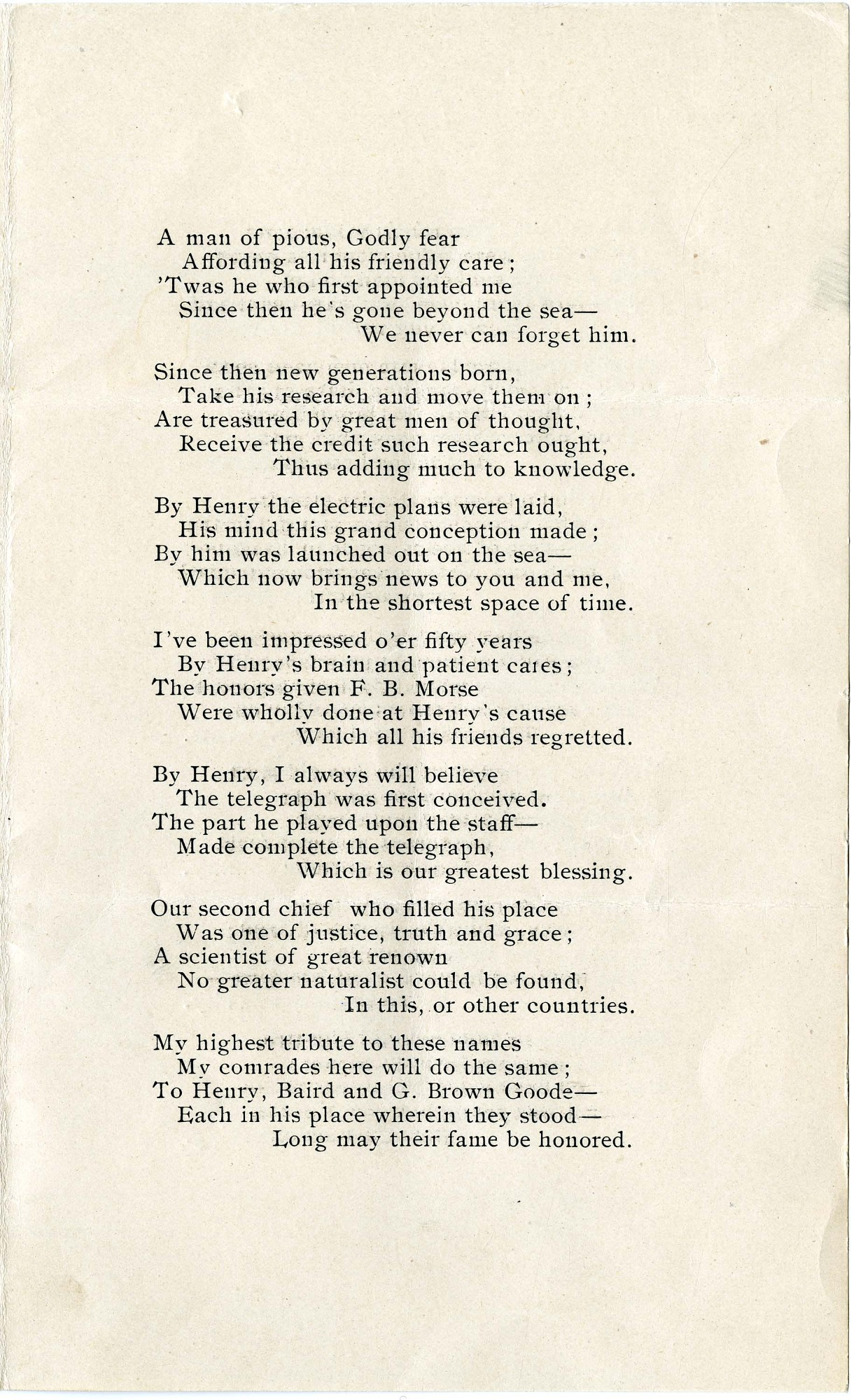 "Solomon Brown Poem, ""Fifty Years To-day,"" 1903 - Page 3"
