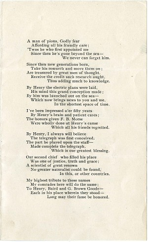 """Solomon Brown Poem, """"Fifty Years To-day,"""" 1903 - Page 3"""