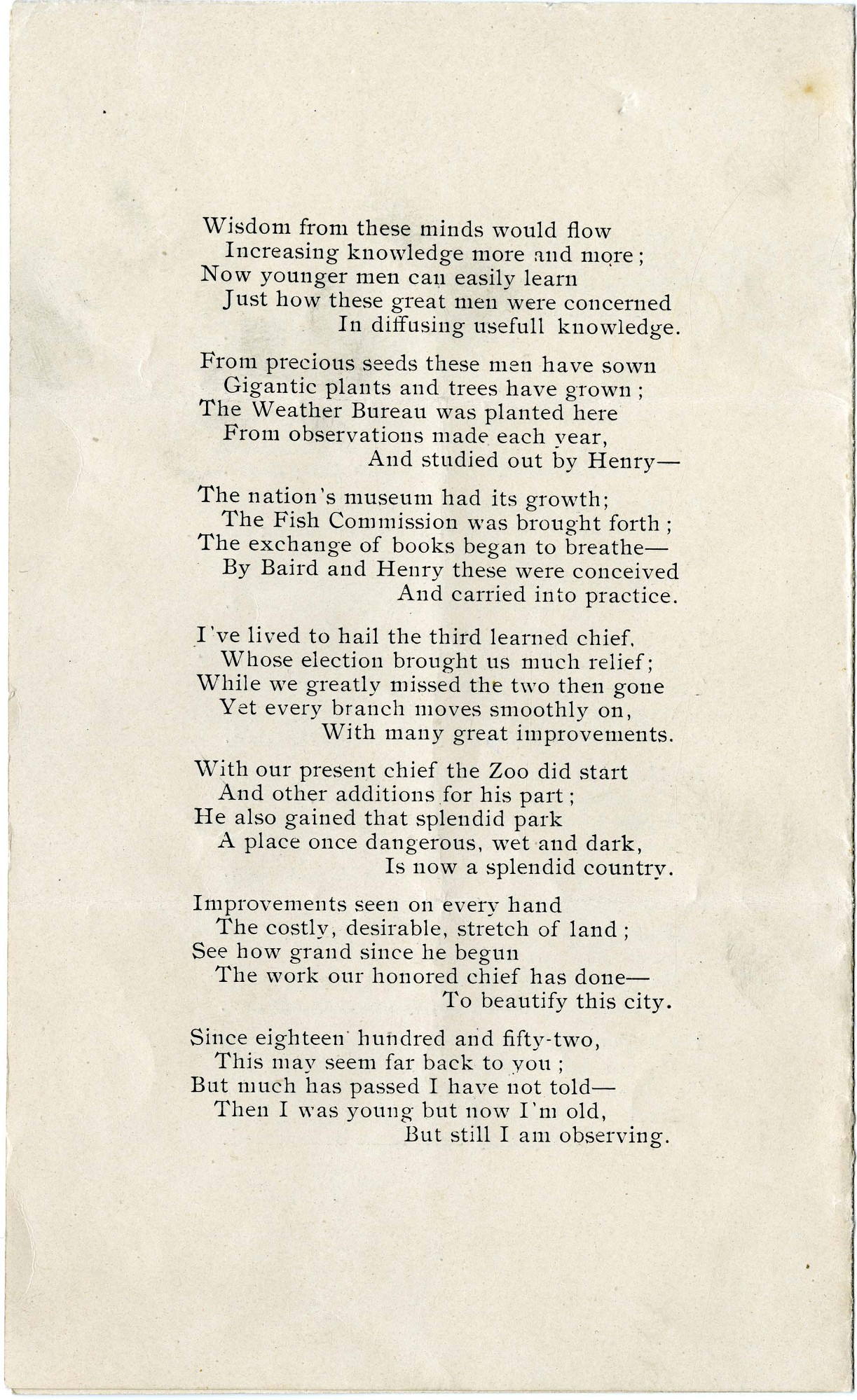 "Solomon Brown Poem, ""Fifty Years To-day,"" 1903 - Page 4"