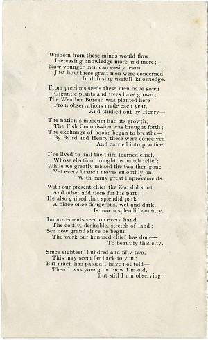 """Solomon Brown Poem, """"Fifty Years To-day,"""" 1903 - Page 4"""