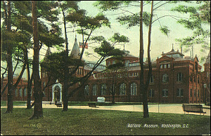 Postcard of the National Museum through Trees, c. 1910, Valentine & Sons' Publishing Co., Courtesy of a private collector, No copy available at the Smithsonian Institution Archives, ai1.jpg