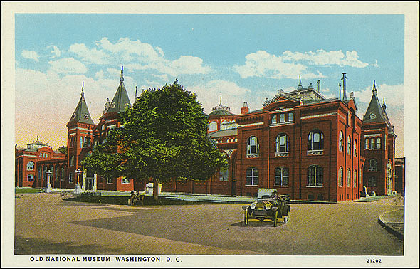 Postcard of the Old National Museum #21202, May 1, 1931, B.S. Reynolds Co., Courtesy of a private collector, No copy available at the Smithsonian Institution Archives, ai8.jpg and ai8back.jpg