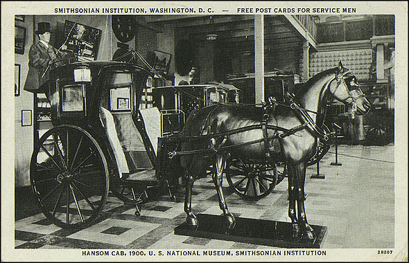 Used Postcard of a Hansom Cab