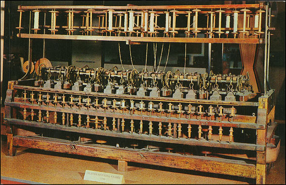 Postcard of the Slater Spinning Frame
