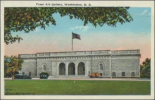 Postcard of the Freer Gallery, c. 1923-1930