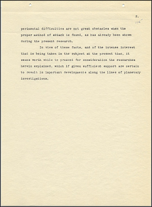 Robert Goddard Report  - March 1920 - Page 2