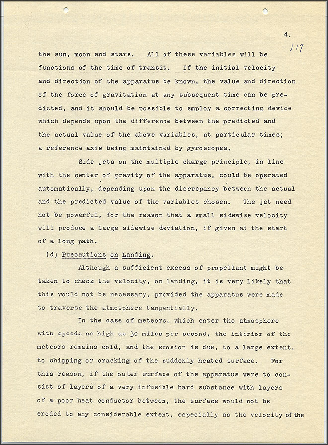 Robert Goddard Report  - March 1920 - Page 4