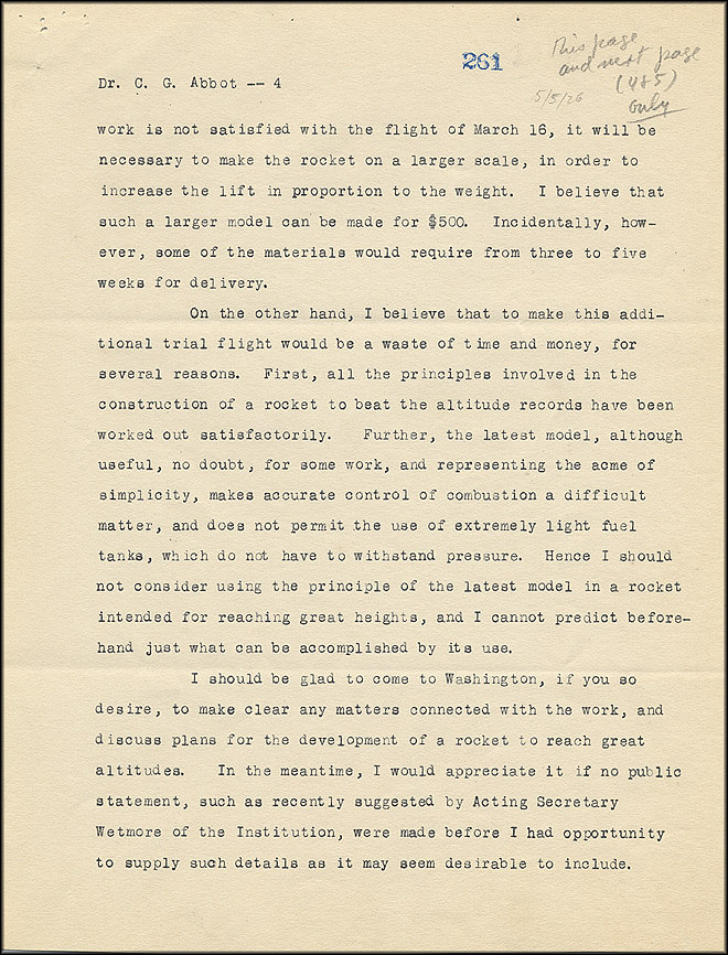 Robert Goddard Report - May 5, 1926 - Page 4