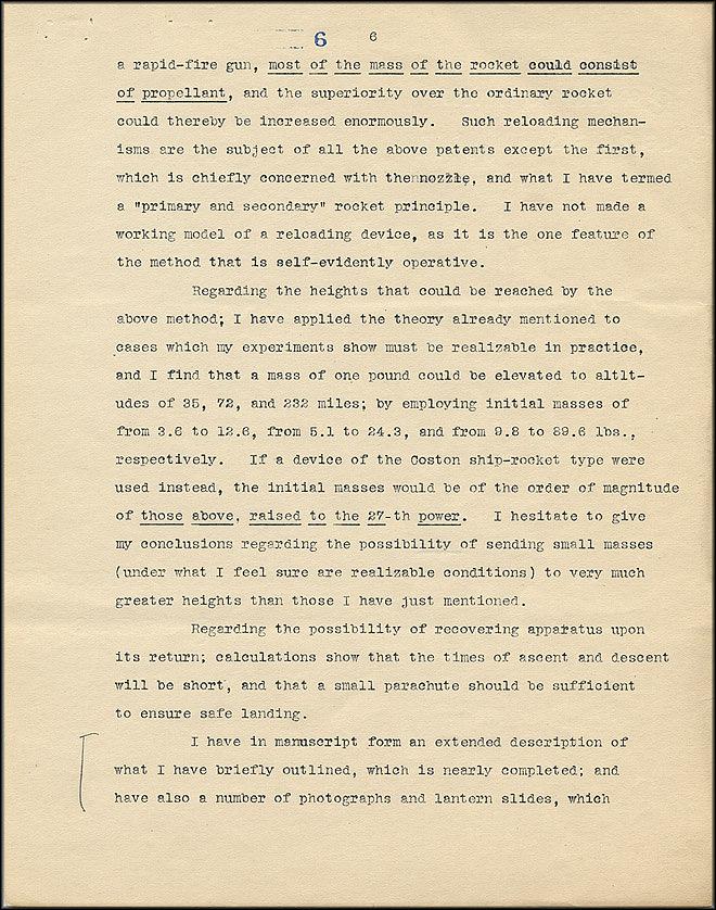 Robert Goddard Proposal - Sept 27, 1916 - Page 6